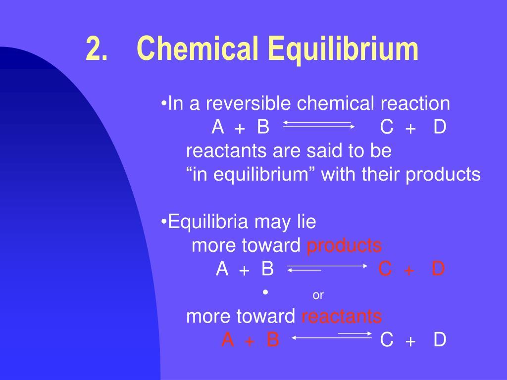 2.Chemical Equilibrium