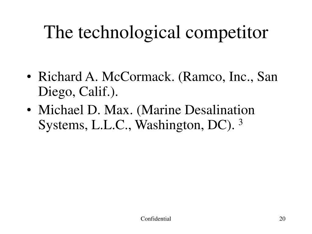 The technological competitor