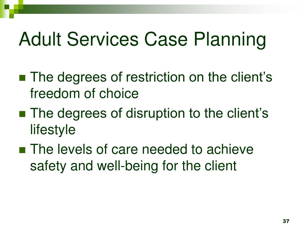 Adult Services Case Planning