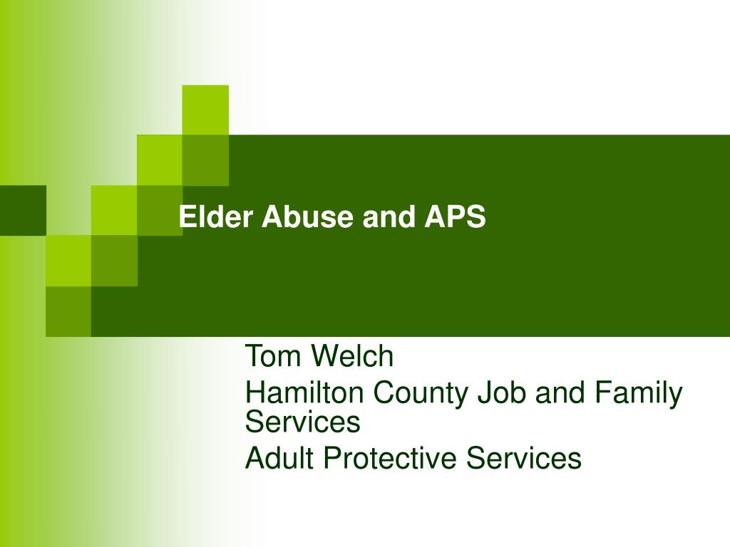 elder abuse and aps