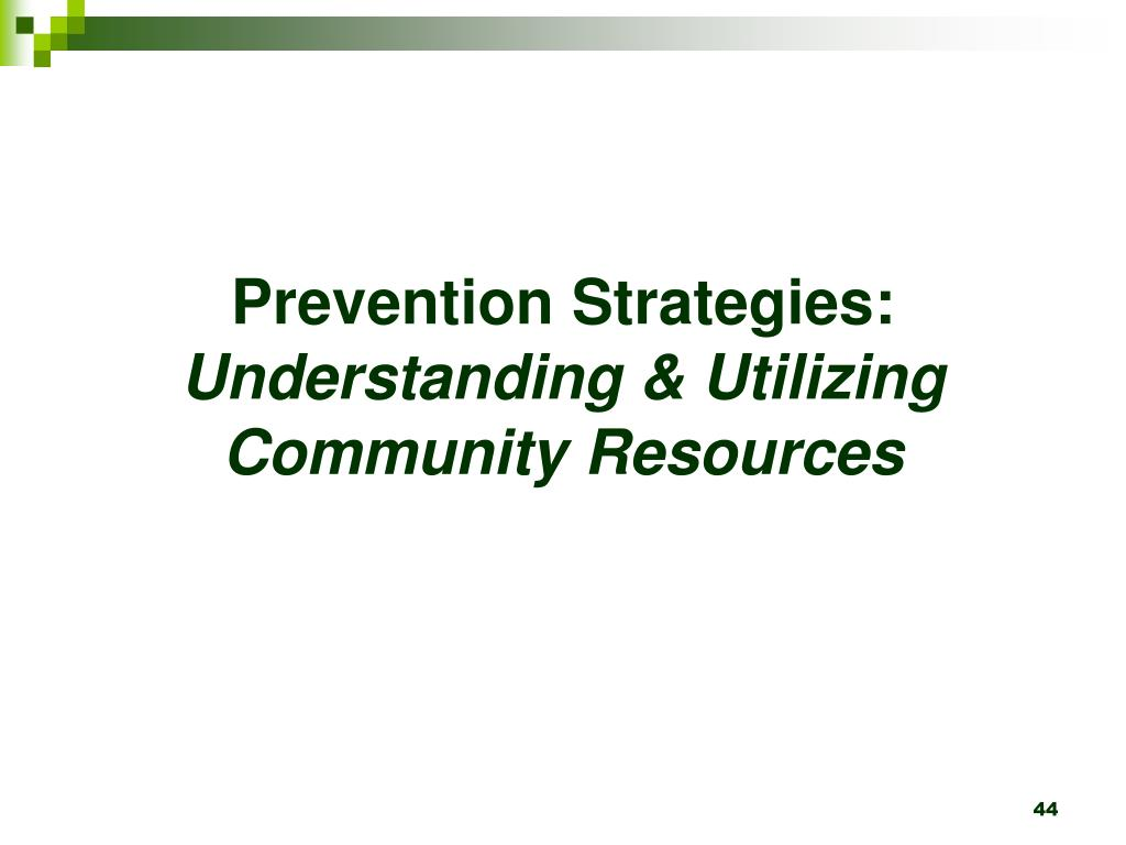 Prevention Strategies: