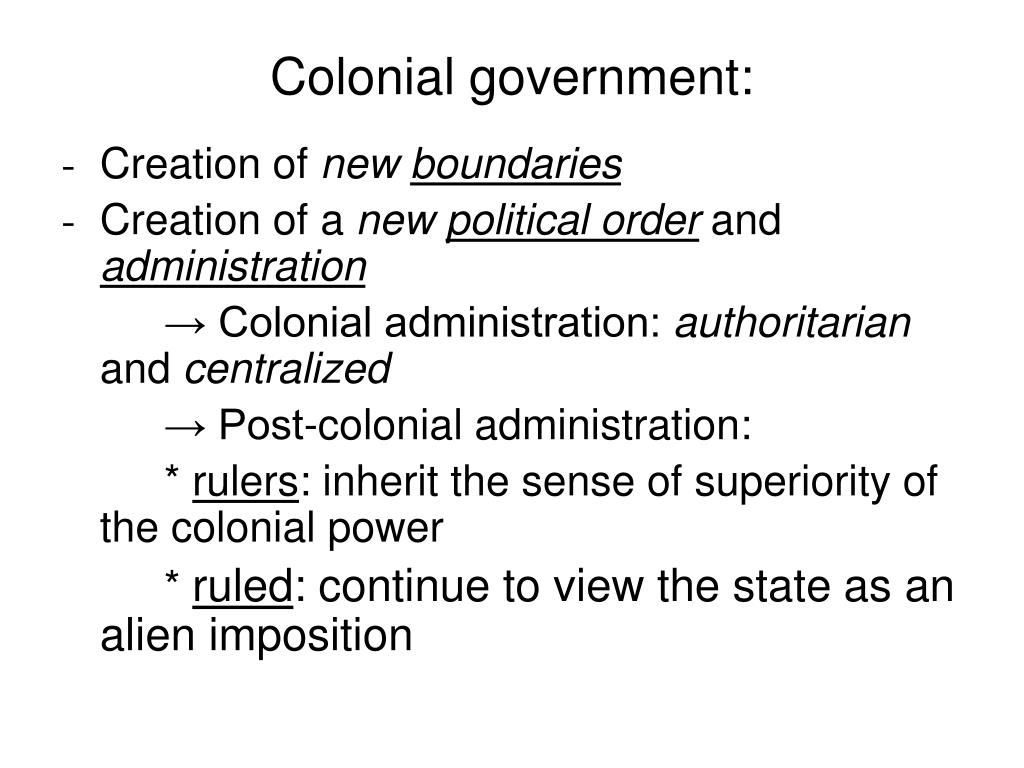 Colonial government: