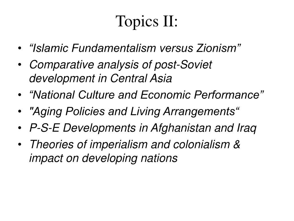 Topics II: