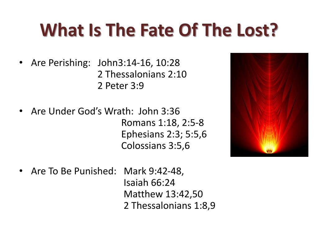 What Is The Fate Of The Lost?