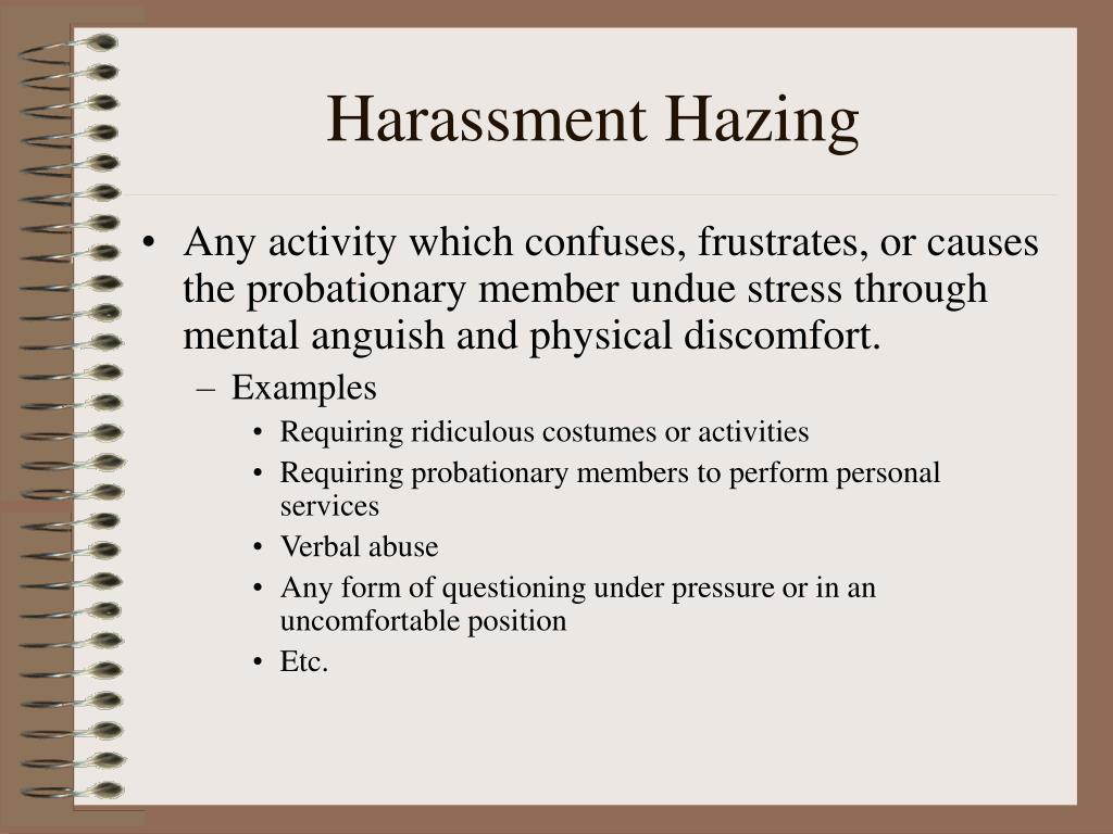 Harassment Hazing
