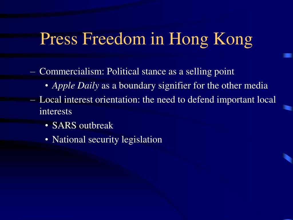 Press Freedom in Hong Kong