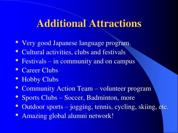 Additional Attractions