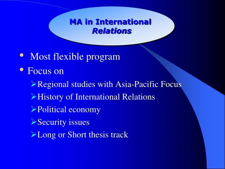 MA in International