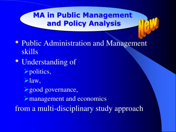 MA in Public Management