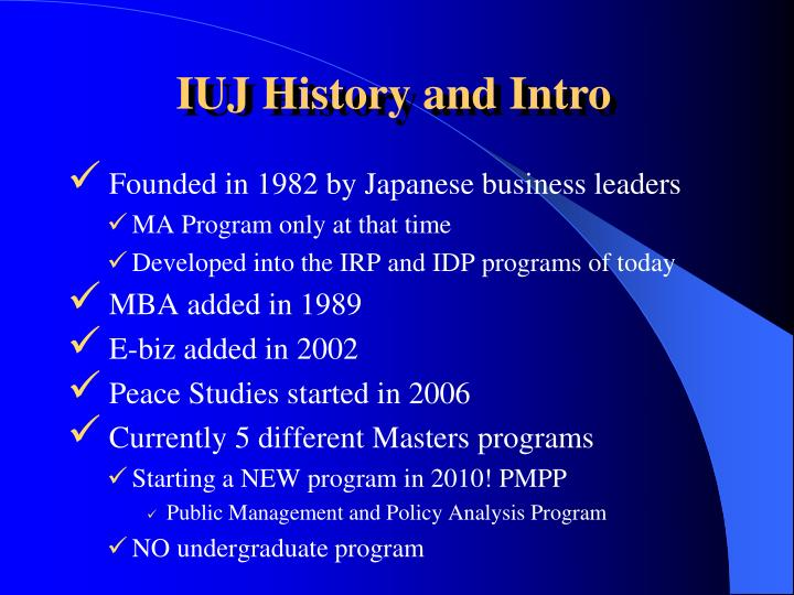 Founded in 1982 by Japanese business leaders