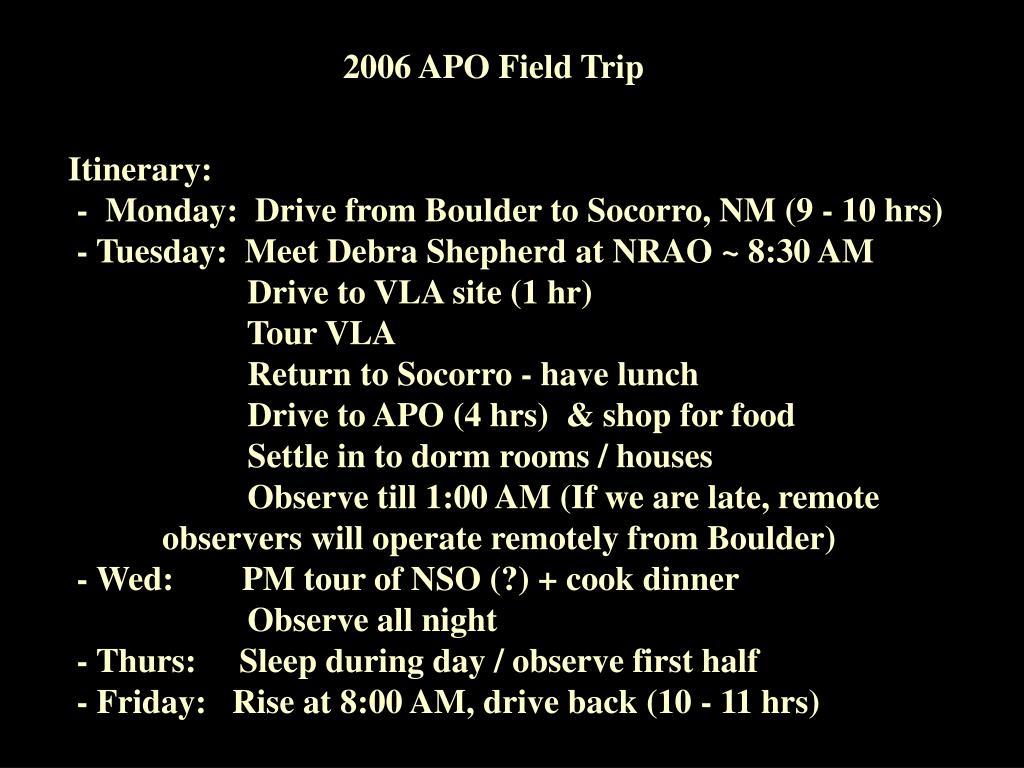 2006 APO Field Trip