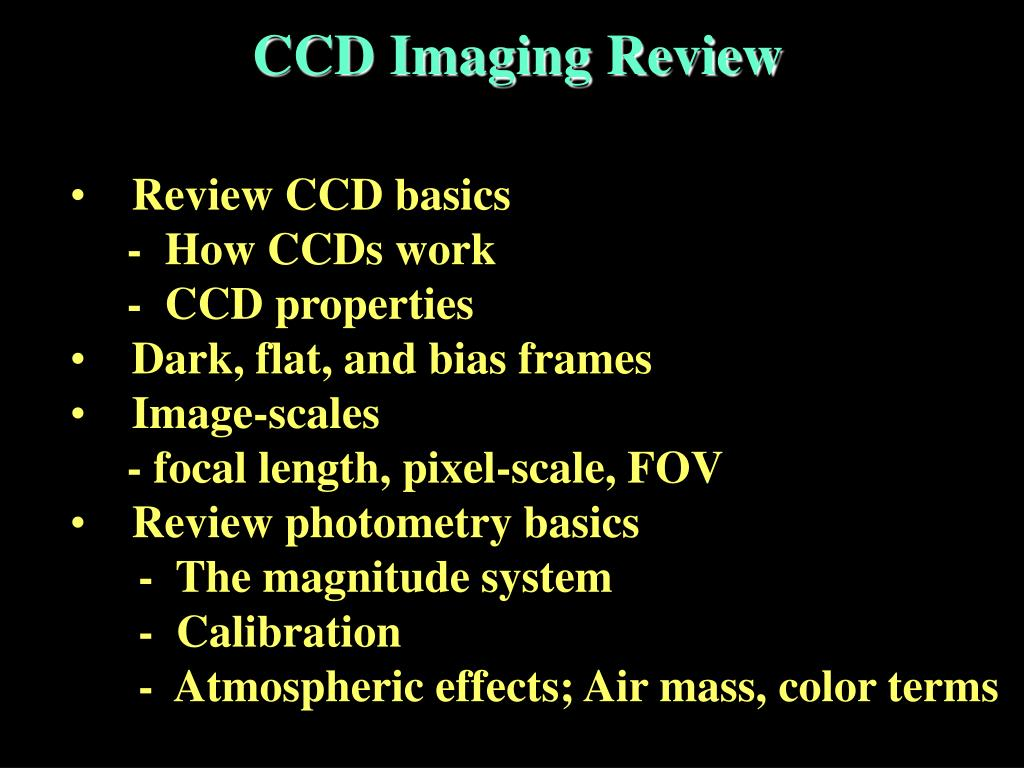 CCD Imaging Review