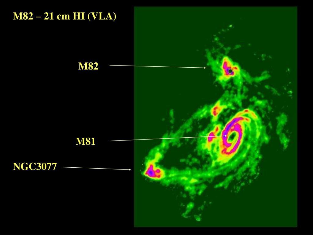 M82 – 21 cm HI (VLA)