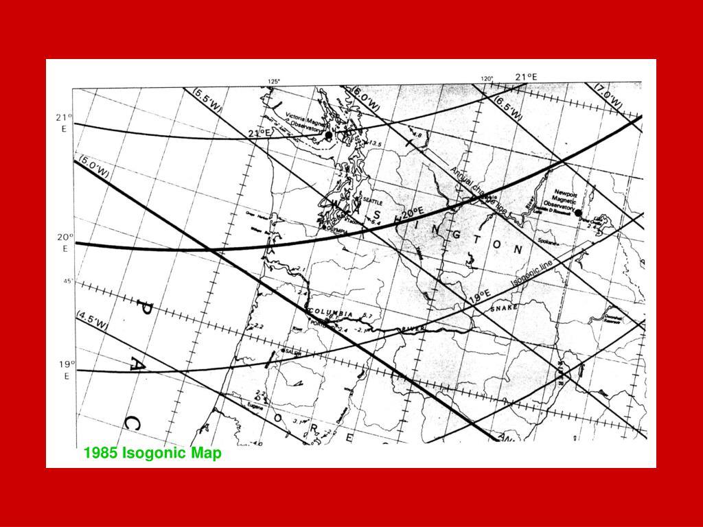 1985 Isogonic Map