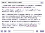 1b11 constellation names