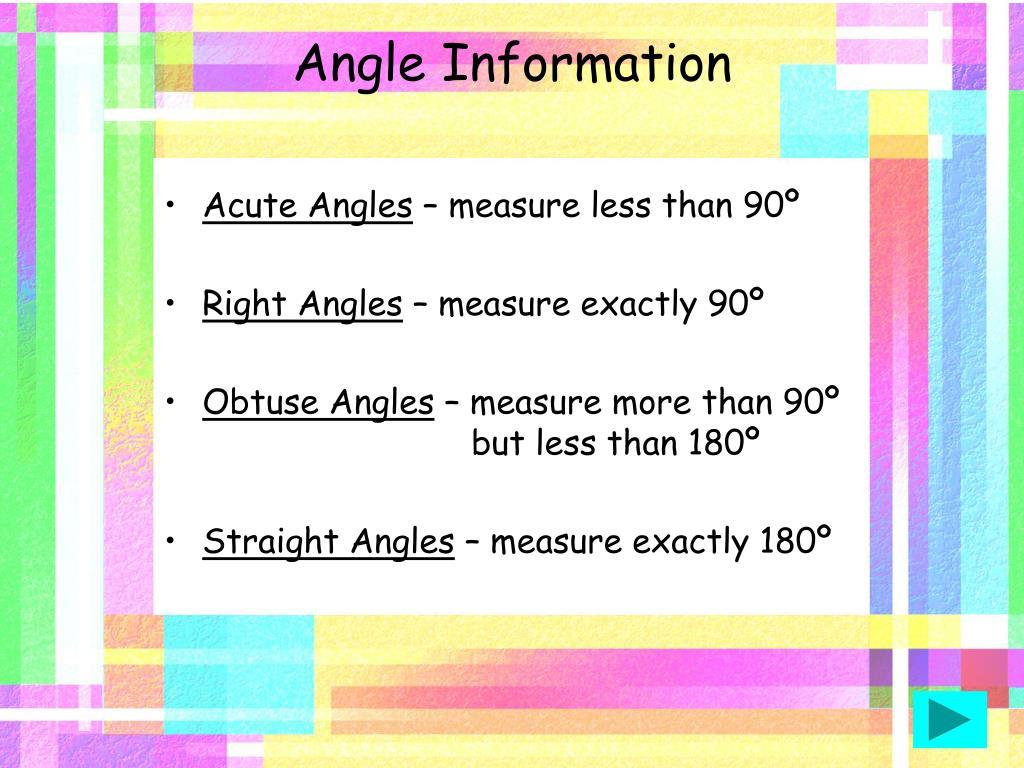Angle Information