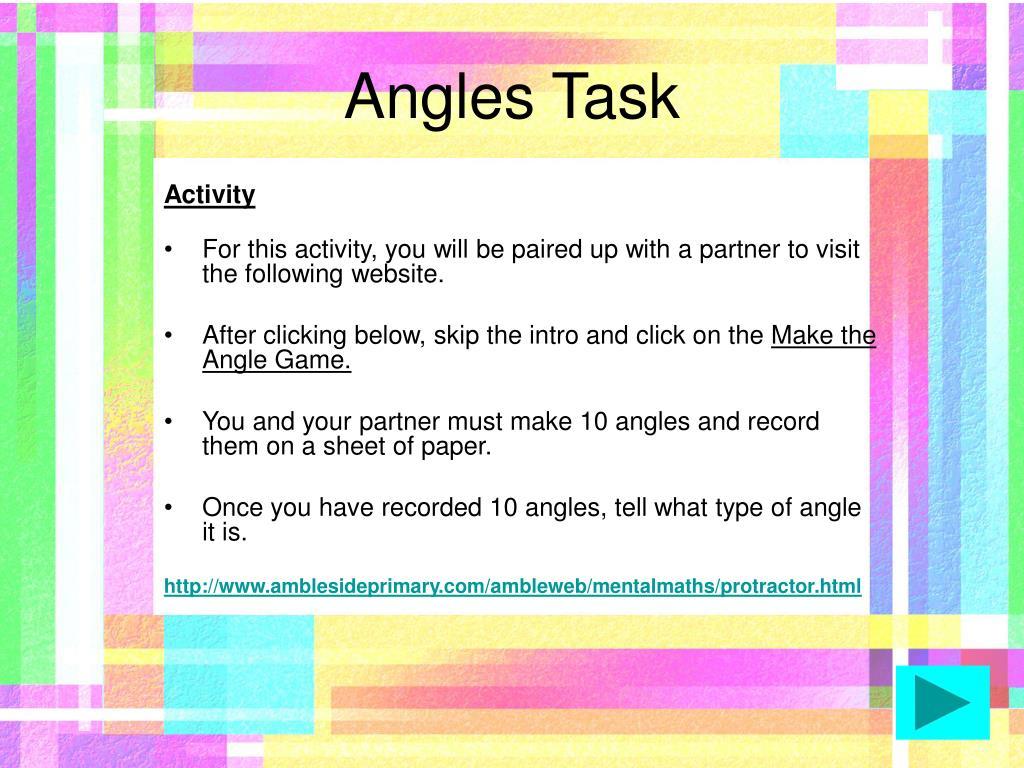 Angles Task