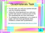 quadrilaterals task