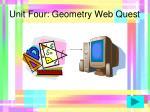 unit four geometry web quest