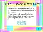 unit four geometry web quest43