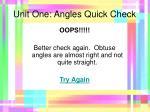 unit one angles quick check11