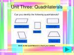 unit three quadrilaterals