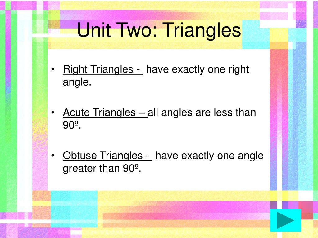 Unit Two: Triangles