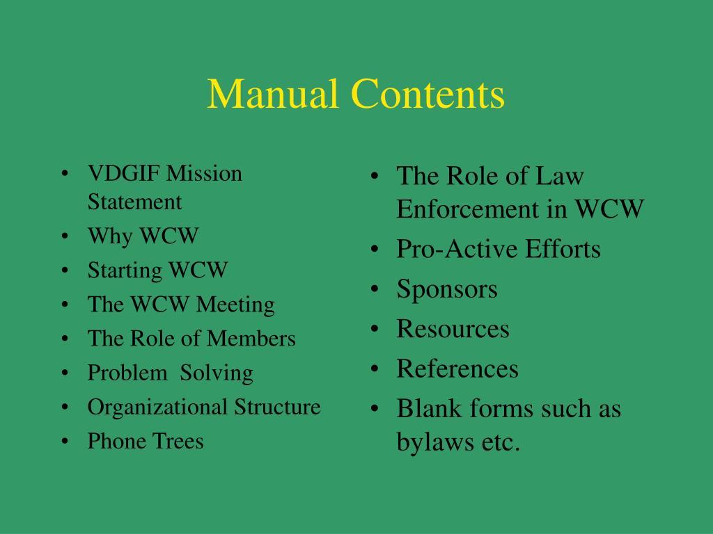 VDGIF Mission Statement