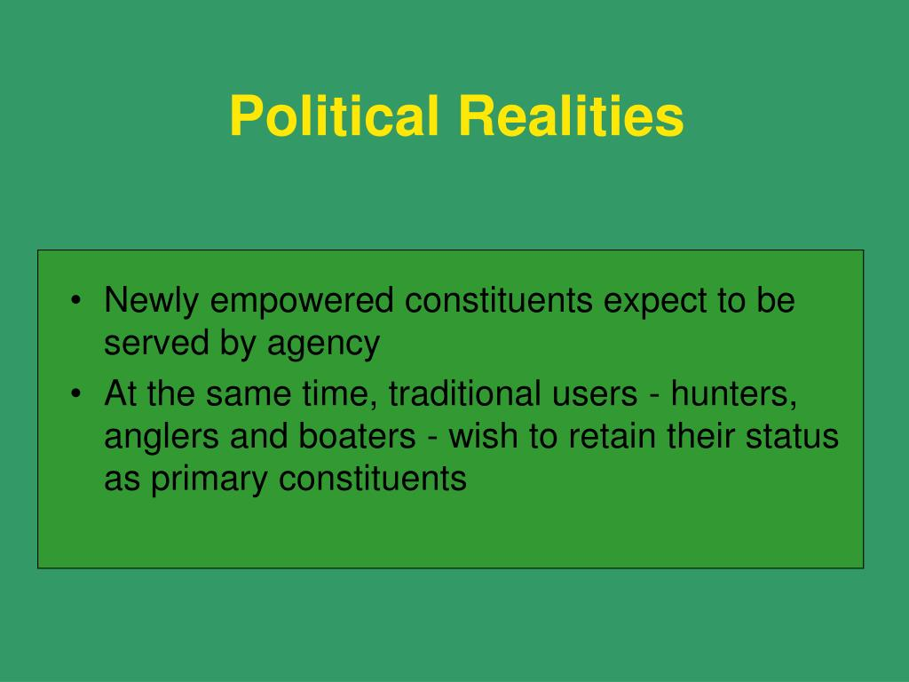 Political Realities