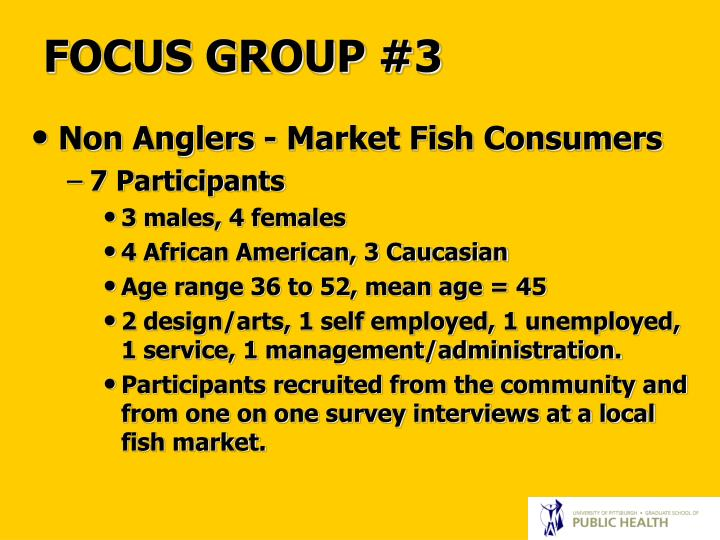 FOCUS GROUP #3