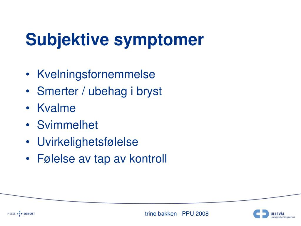 Subjektive symptomer