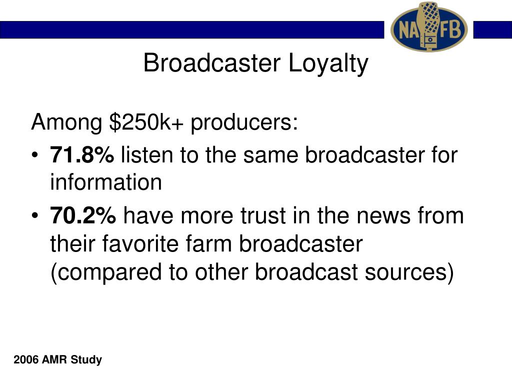 Broadcaster Loyalty