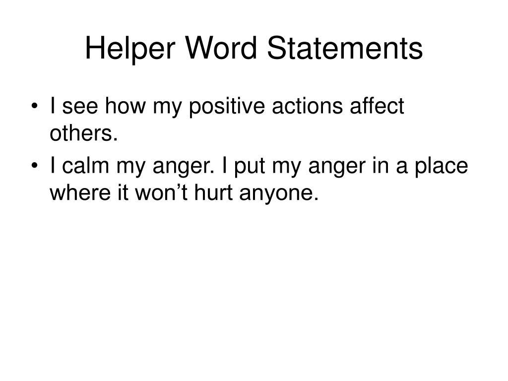 Helper Word Statements