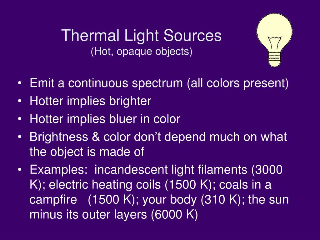 Thermal Light Sources