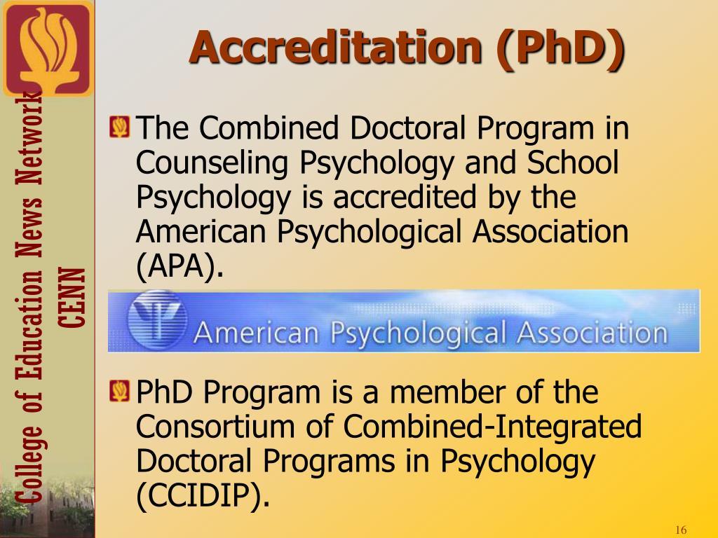 Accreditation (PhD)