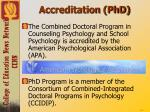 accreditation phd