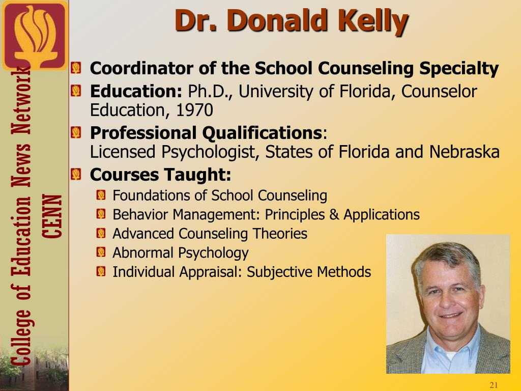 Dr. Donald Kelly