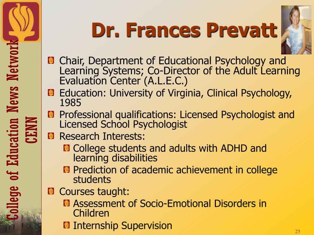 Dr. Frances Prevatt