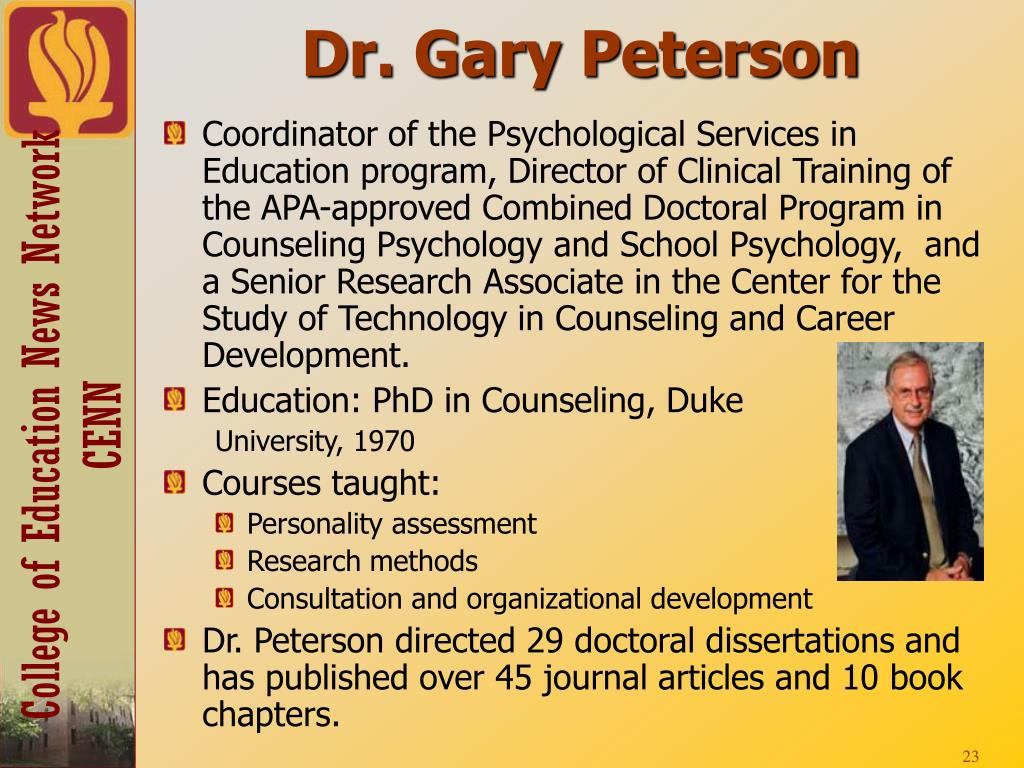 Dr. Gary Peterson