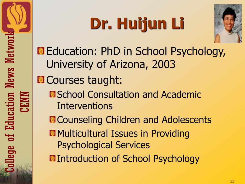 Dr. Huijun Li