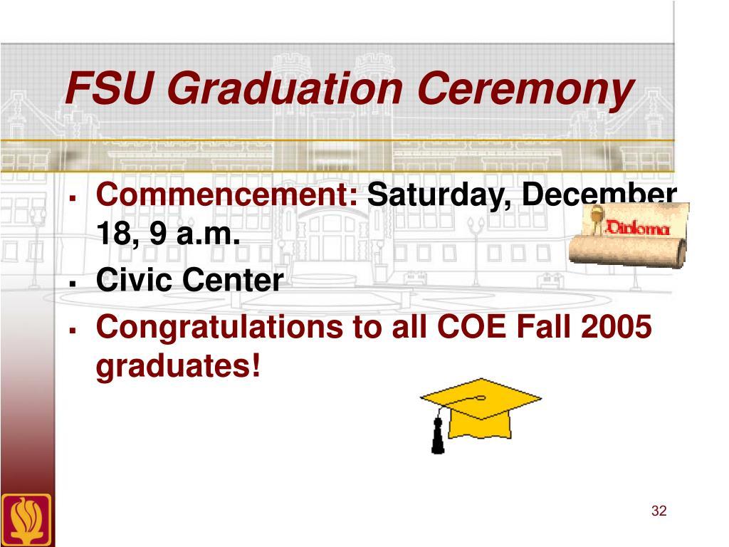 FSU Graduation Ceremony