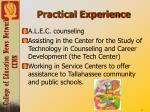 practical experience
