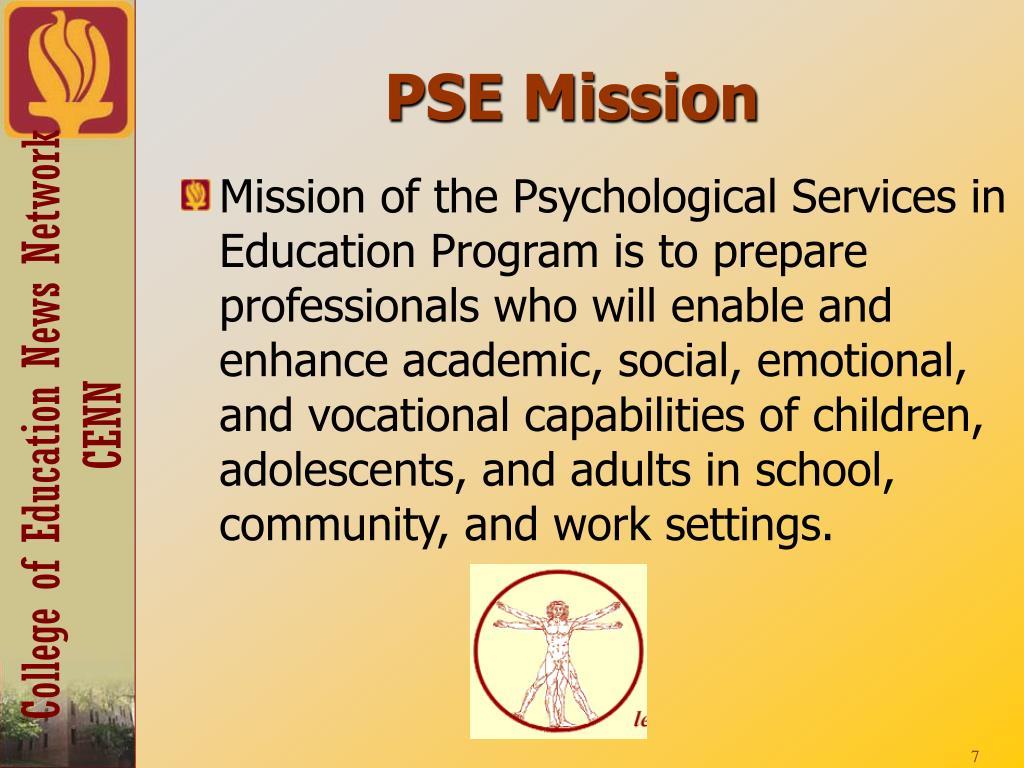 PSE Mission
