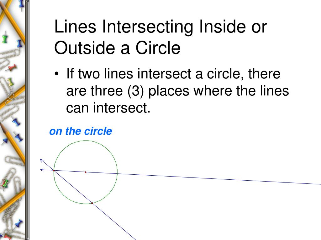 Lines Intersecting Inside or Outside a Circle