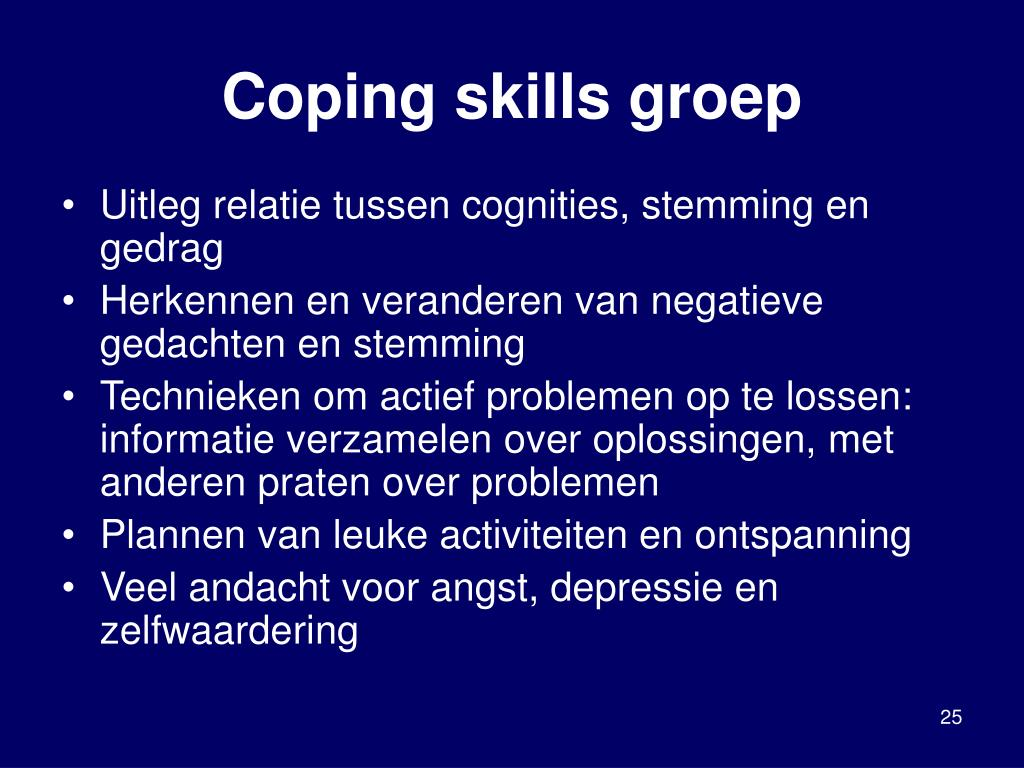Coping skills groep