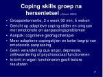 coping skills groep na hersenletsel anson 2006