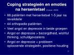 coping strategie n en emoties na hersenletsel curran 2000