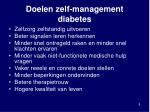 doelen zelf management diabetes