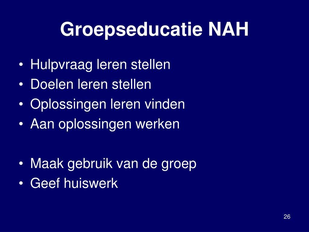 Groepseducatie NAH