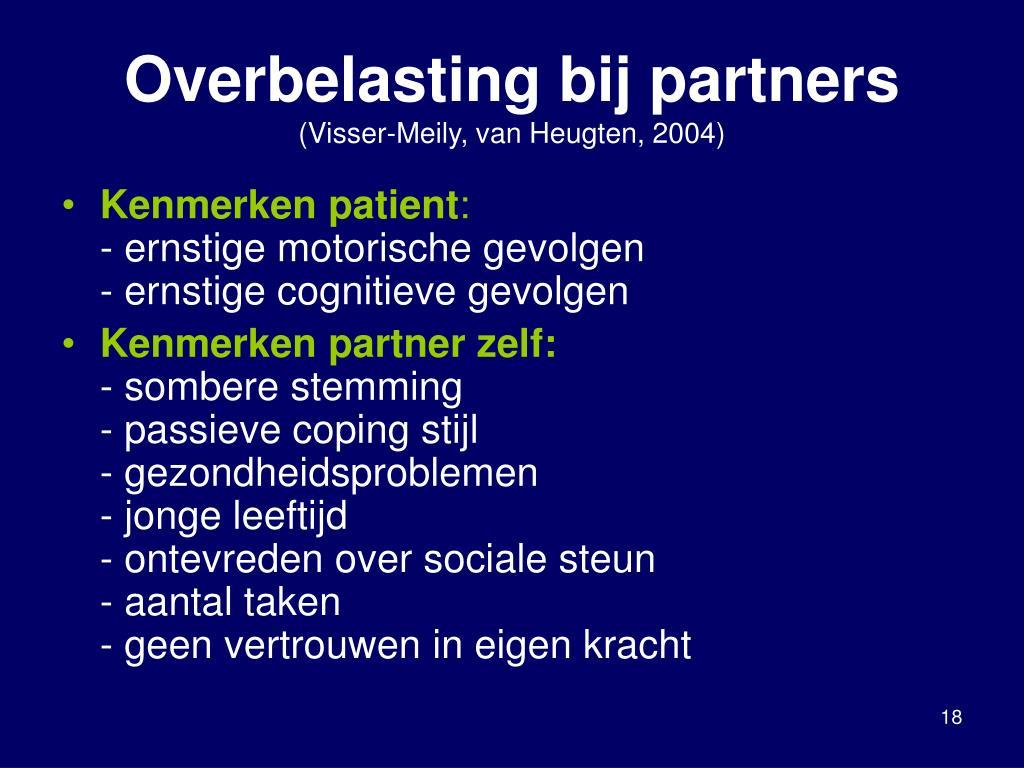 Overbelasting bij partners